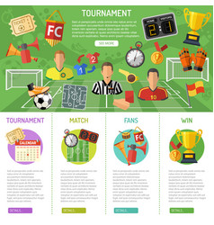 Soccer banner and infographics vector
