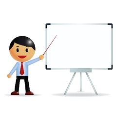 Businessman presenting on whiteboard vector