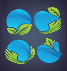 nature spheres vector image