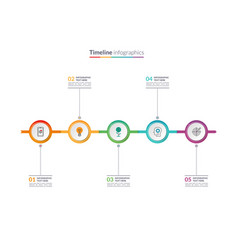 Timeline infographic concept with 5 options vector
