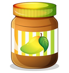 A mango jam in a bottle vector