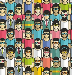 Seamless pattern group people vector