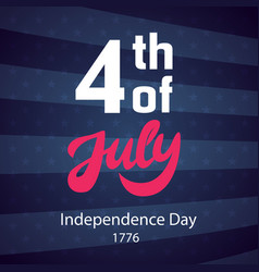 4th of july retro poster template vector