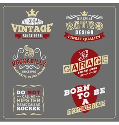 Retro vintage badge design for poster vector image