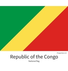National flag republic of congo with correct vector