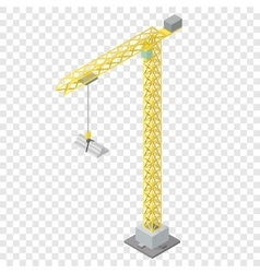Isometric industrial crane vector