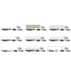 cargo trucks 07 vector image