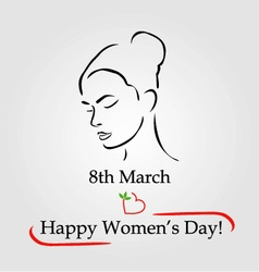 8th march womens day greetings vector