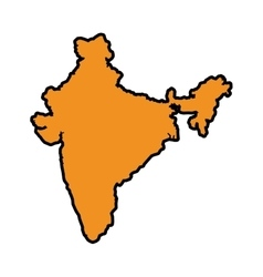 Map icon indian culture design graphic vector