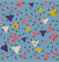 abstract pattern blue background with pink yellow vector image vector image