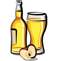 Apple cider bottle vector