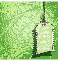 background with tag vector image vector image