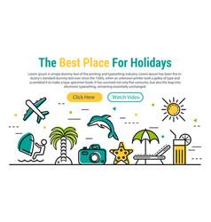 Best holidays - rectangular site header vector