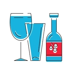 Bottle of wine or other alcohol beverage and vector image vector image