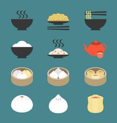 chinese cuisine dim sum vector image