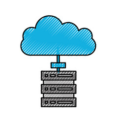 cloud computing datacenter server technology vector image