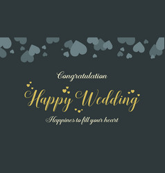 Collection wedding invitation graphic style vector