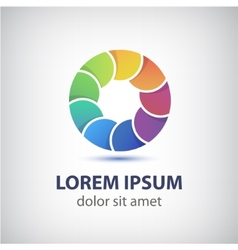 colorful rainbow loop circle icon vector image