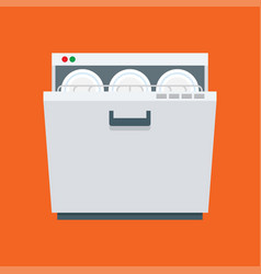 dishwasher icon isolated on white background vector image