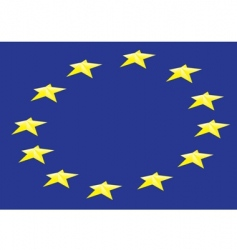 flag European union vector image vector image
