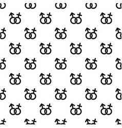 Gender symbol pattern vector