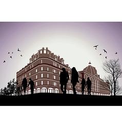 German Parliament building vector image