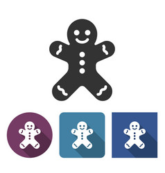 Gingerbread man icon in different variants vector
