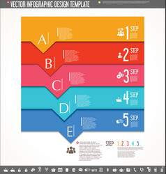 infographic design template colorful design 7 vector image vector image