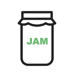 Jam bottle vector