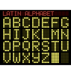 latin alphabet indicator vector image vector image