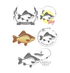 logo on fishing vector image