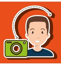 man camera photography images vector image