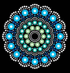 mandala bohemian dot painting aboriginal vector image