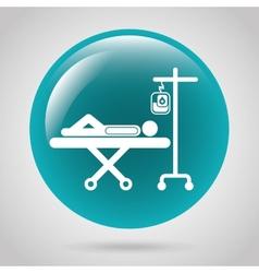Medical button vector