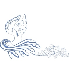 Pattern bird dancing at the vine eps10 vector
