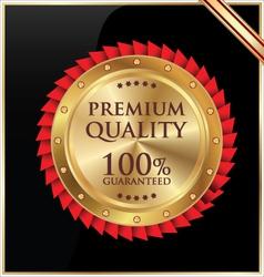 Premium quality golen label vector image vector image