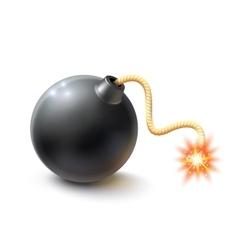 Realistic bomb vector