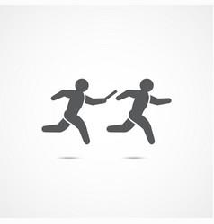 relay race icon vector image vector image