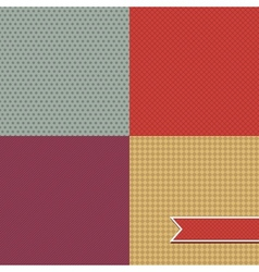 Retro Pattern Set vector image
