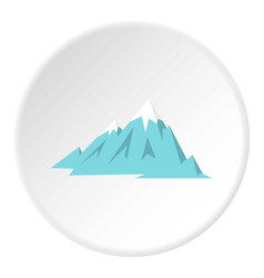 Rocky mountains icon circle vector