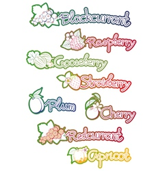 set of labels for fruit jam vector image vector image