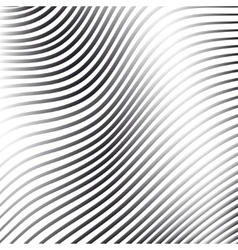 Silver abstract background with wave line pattern vector image vector image