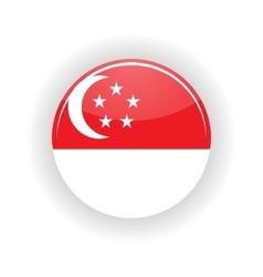 Singapore icon circle vector image