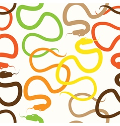 snakes vector image