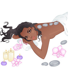 stone massage vector image vector image