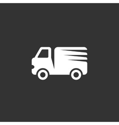 Truck logo on black background icon vector