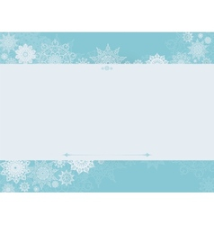 Vintage winter background with snowflakes vector image vector image