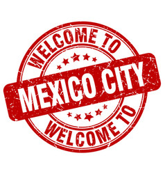welcome to mexico city vector image