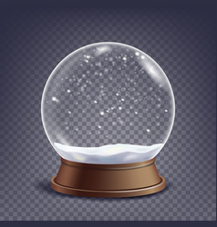 Xmas empty snow globe winter christmas vector