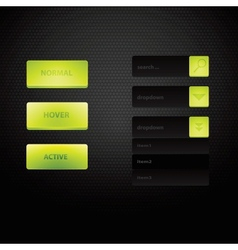 Web site design navigation elements with icons set vector image